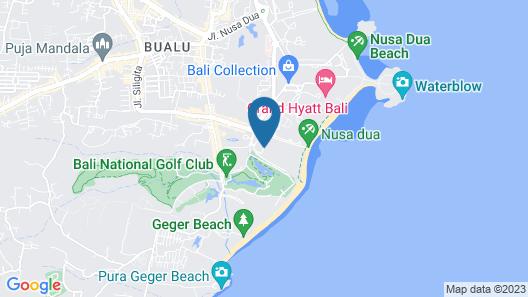 Ayodya Resort Bali Map
