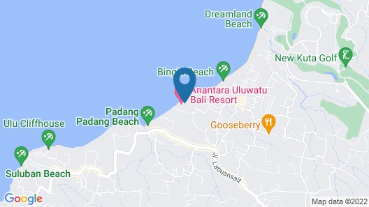 Anantara Uluwatu Bali Resort Map