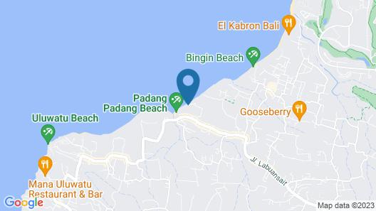 Le Cliff Bali Map