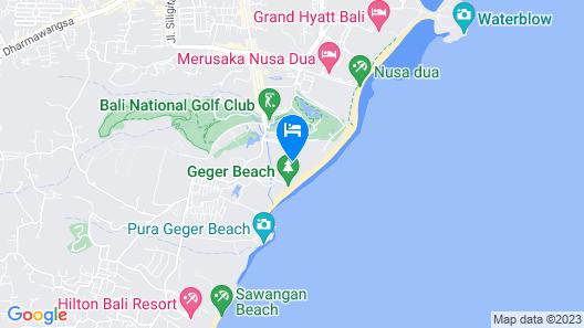 The St. Regis Bali Resort Map