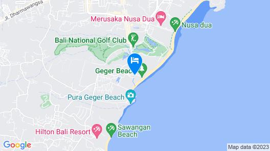 The Mulia Bali Map