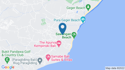 Hilton Bali Resort Map