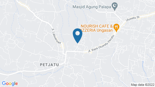 Ola Villas at Uluwatu Map