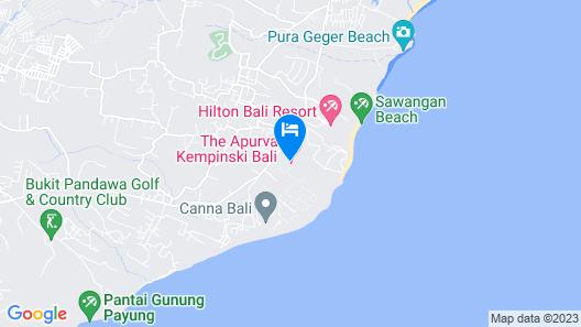 The Apurva Kempinski Bali Map
