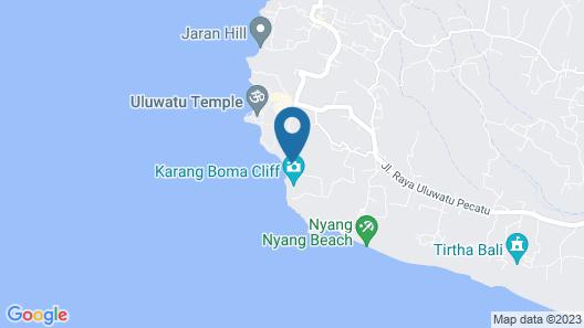 Alila Villas Uluwatu, Bali Map