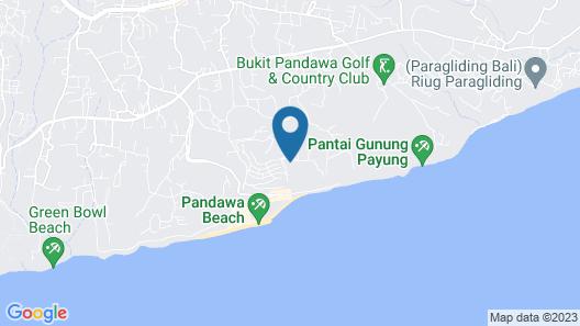 Luxury Clifftop Villas of Bali Map