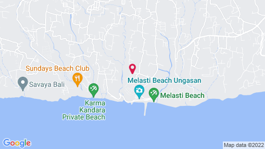 Jumana Bali Ungasan Resort Map