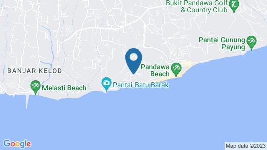 Absolute Cliff Front Pandawa Beach Villa Map