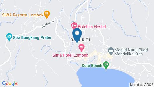 Mewali Villa Satu Map