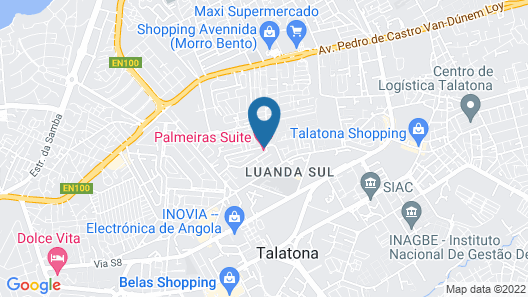 Palmeiras Suite Hotel Map