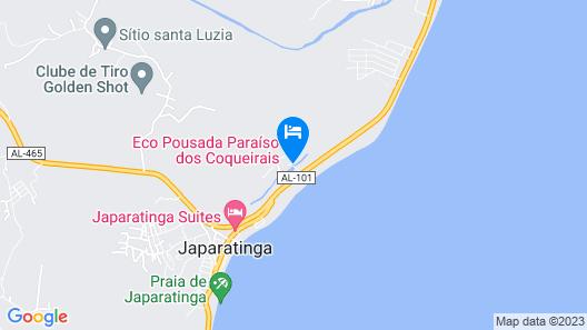 Pousada Paraíso dos Coqueirais Map