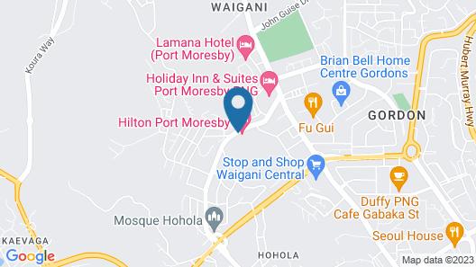 Hilton Port Moresby Map