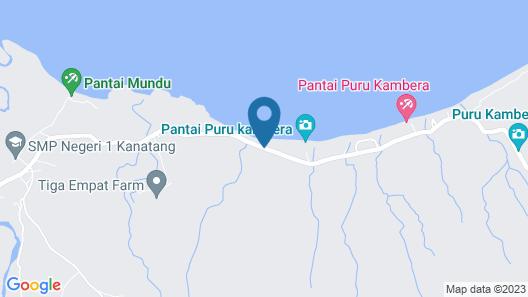Cemara Beach Resort Map