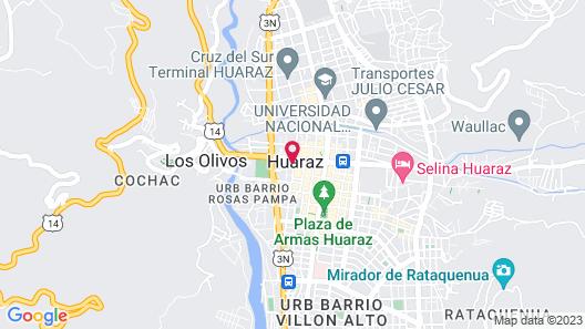Casablanca Huaraz Inn hospedaje Map