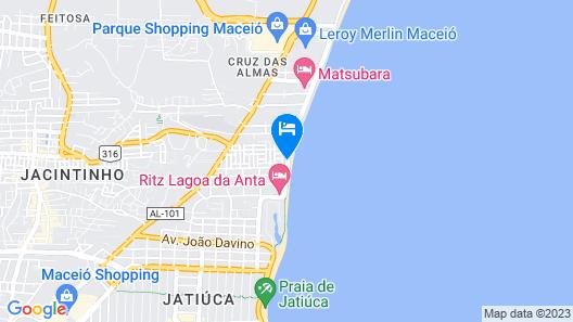 Hotel Água de Coco Map