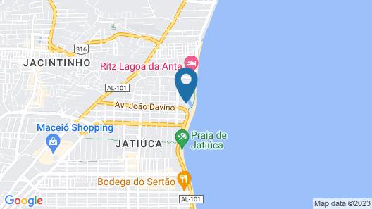JATIÚCA SUITES RESORT by Slaviero Hotéis Map