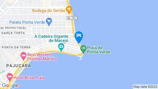 Hotel Ponta Verde Maceio Map