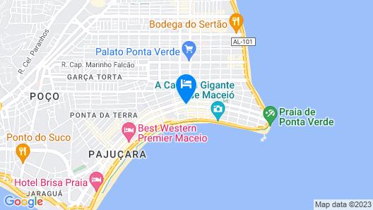 Holiday Inn Express Maceio Ponta Verde Map
