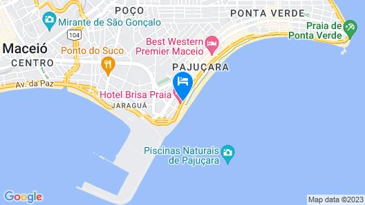 Praia Hotel Enseada Map