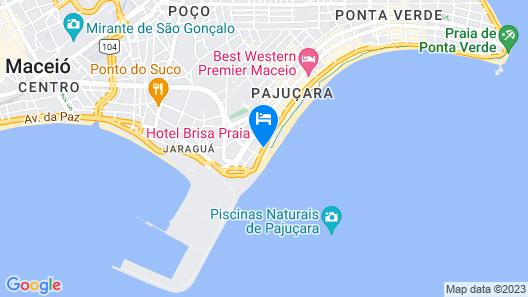 Hotel Brisa Praia Map