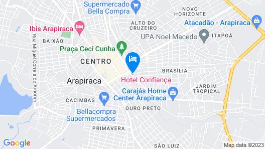 Hotel Confiança Map