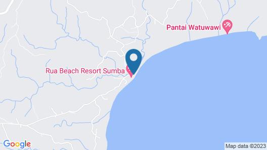 Rua Beach Resort Sumba Map