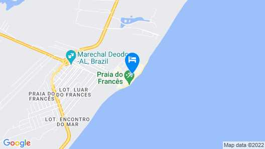Hotel Ponta Verde Praia do Francês Map
