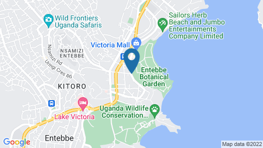 Best Western Premier Garden Hotel Entebbe Map