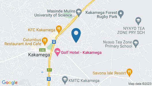 Kakamega Milimani Resort Map