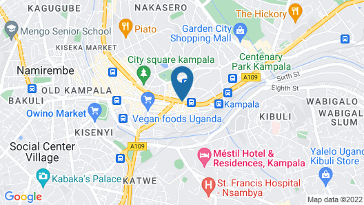 Rubaga guest  house Map