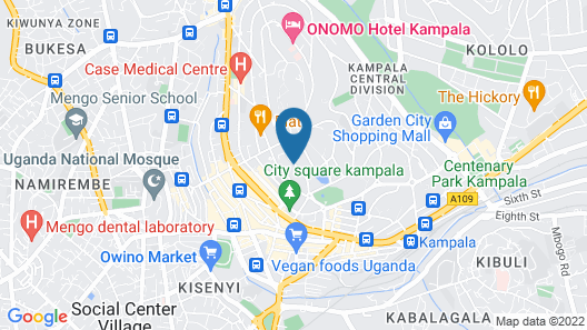 Pearl Of Africa Hotel Map