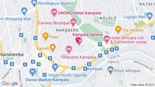 Kampala Serena Hotel Map