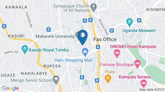 Makerere University Guest House Map