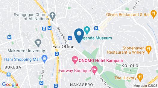 Speke Apartments Kitante Map