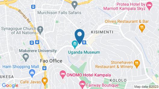 Hilton Garden Inn Kampala Map