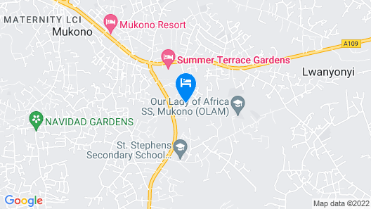 Hotel Alvers Mukono Map