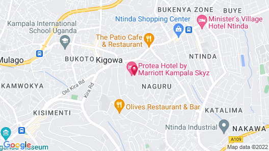 Protea Hotel by Marriott Kampala Skyz Map
