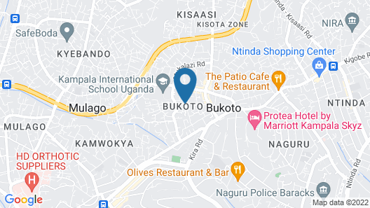 Bukoto Guest House and Apartments Map