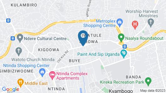 Hotel Eliana Kampala Map