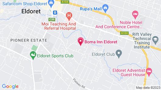 Boma Inn Eldoret Map