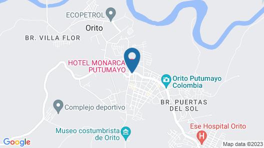 Hotel Monarca Putumayo Map