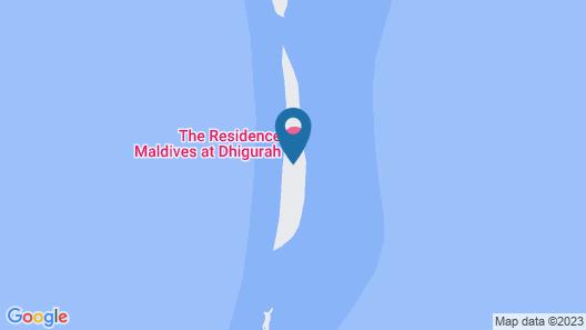 The Residence Maldives at Dhigurah Map