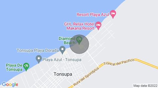 Precioso Departamento Frente al mar Diamond Beach Map