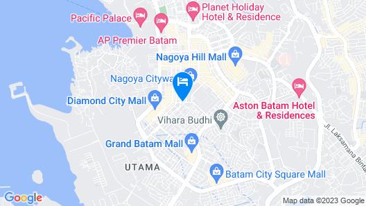 Biz Hotel Batam Map