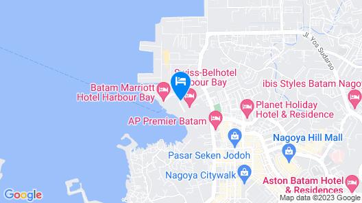 Batam Marriott Hotel Harbour Bay Map