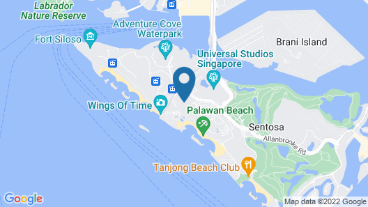 The Outpost Hotel Sentosa by Far East Hospitality (SG Clean) Map