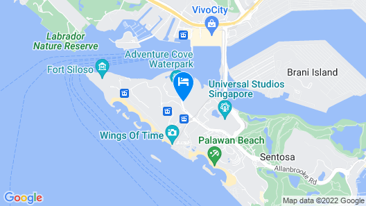 Resorts World Sentosa - Festive Hotel Map