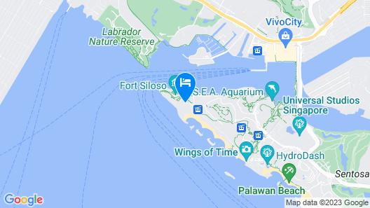 Shangri-La's Rasa Sentosa Resort & Spa Map