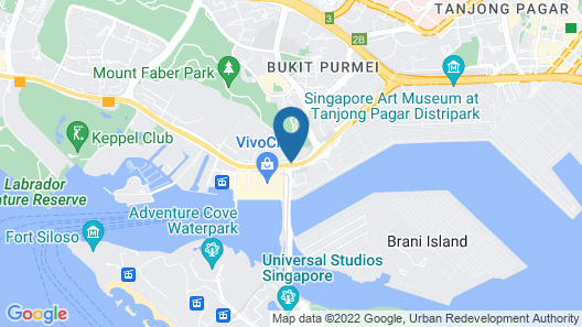 Travelodge Harbourfront Map