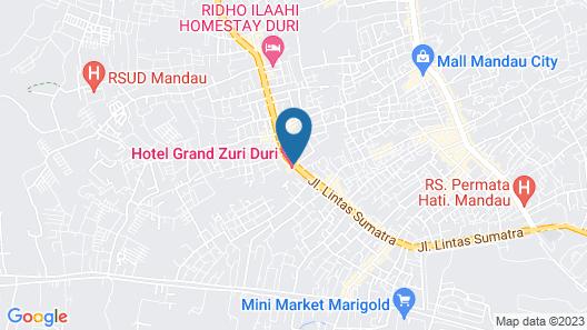 Grand Zuri Hotel Duri Map